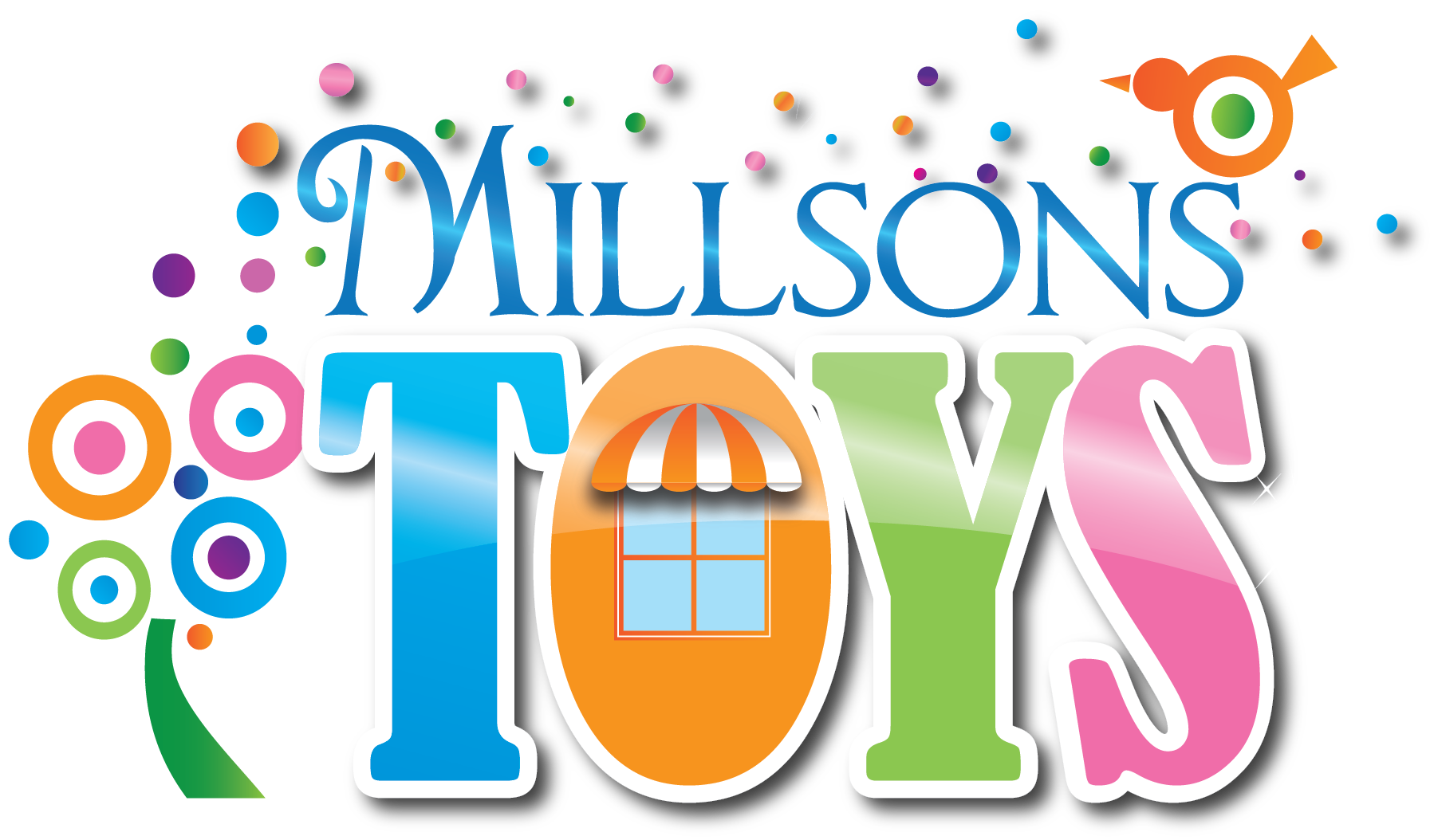 Millsons Toys logo, links to the homepage
